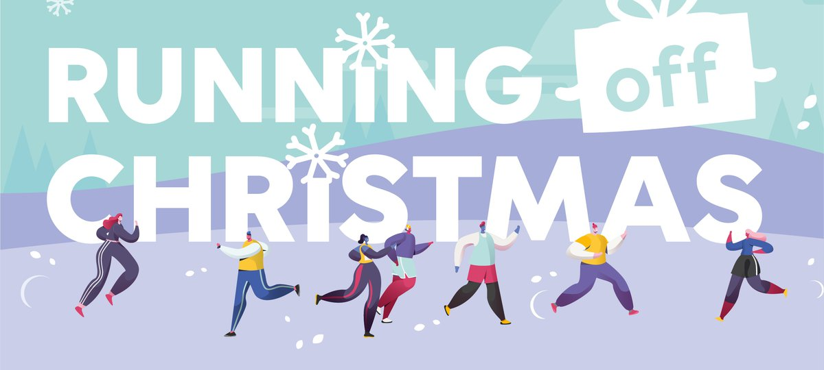 Running off Christmas illustration