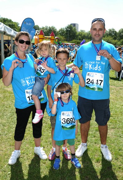 Race for the Kids - Charlie and his family