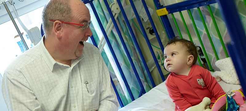 GOSH patient Ruby-Rose with Surgeon Joe Curry