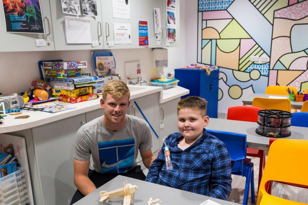 British tennis star Kyle Edmund meets GOSH patient Kyle Hanson