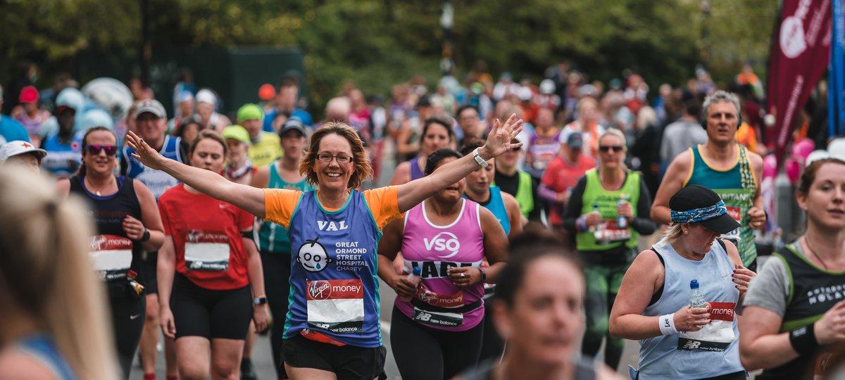 A Team GOSH runner in the 2019 London Marathon