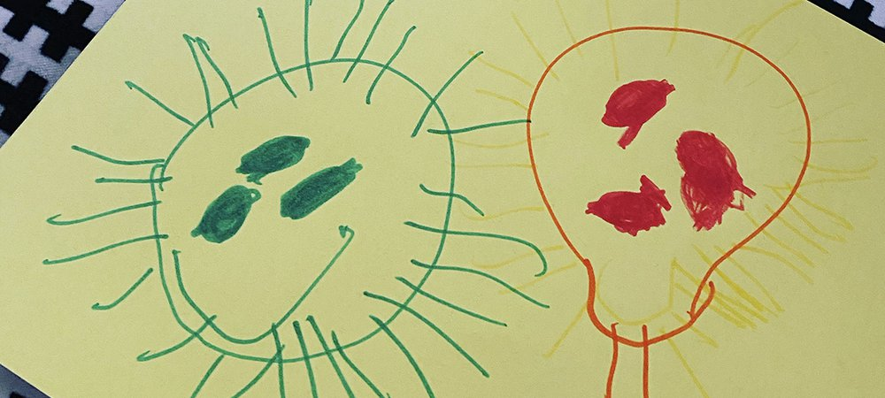 Bugs and viruses drawn by GOSH patients