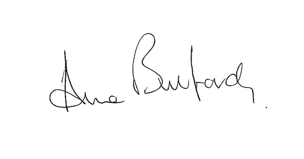 Anne Bulford's signature