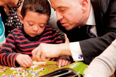 Phil Parry and his son Oscar