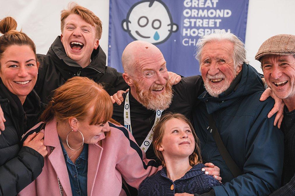 Brighton Marathon, family celebrate at end