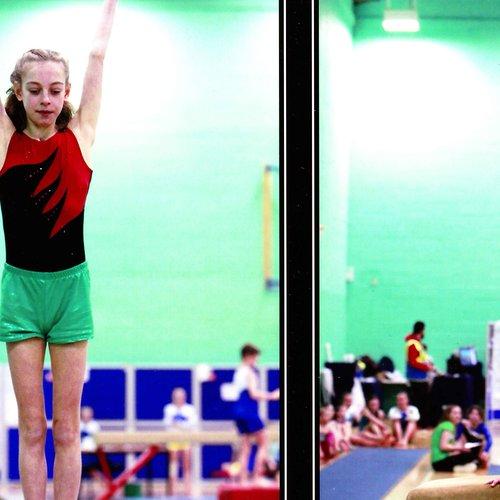 Hannah at gymnastics