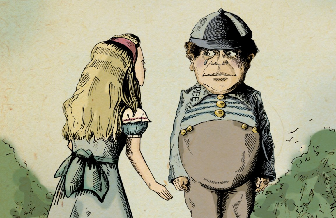 Illustration of Dee and Alice