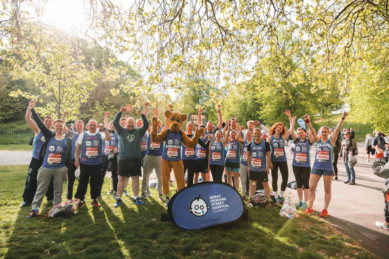 Team GOSH at the 2019 London Marathon