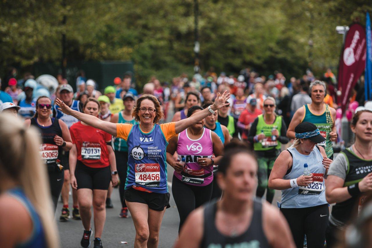Team GOSH runner at the 2019 London Marathon
