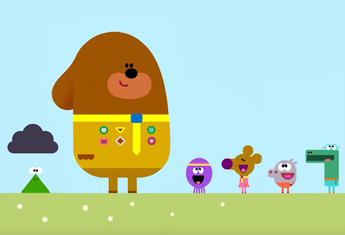 Illustration of Duggee and friends.