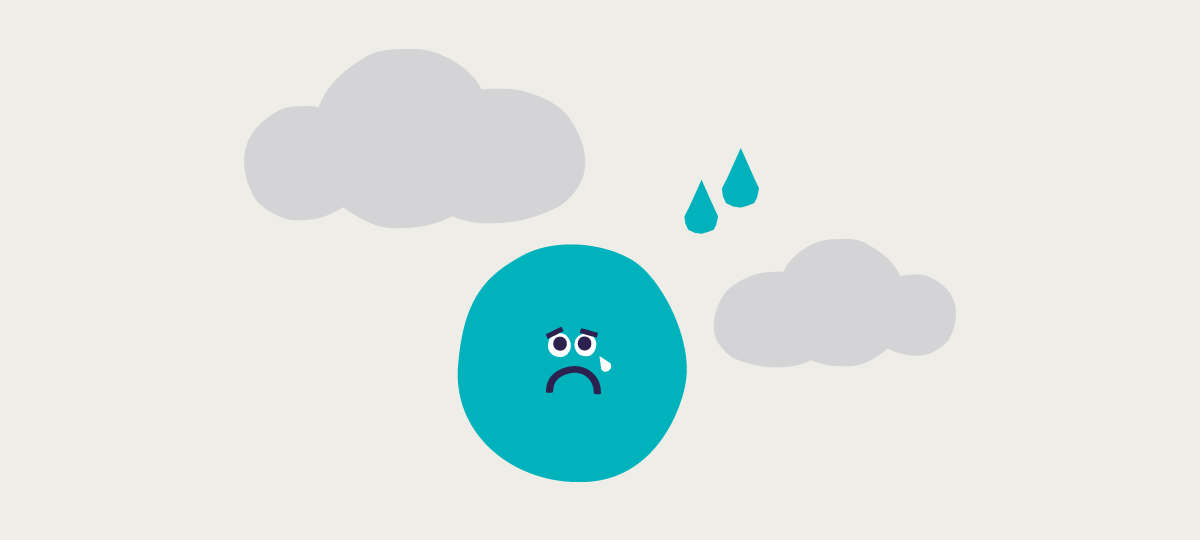 Sadness and worry illustration