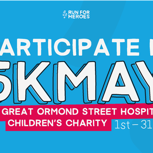 Banner image that says' participate in 5k May'