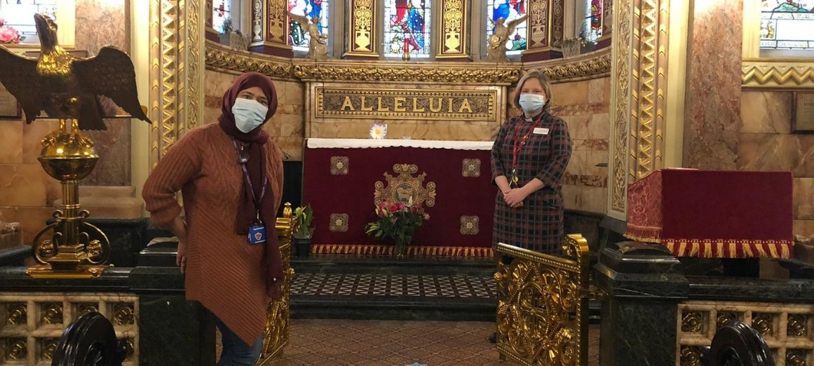 Senior Chaplains Romana and Dorothy in St Christopher's Chapel