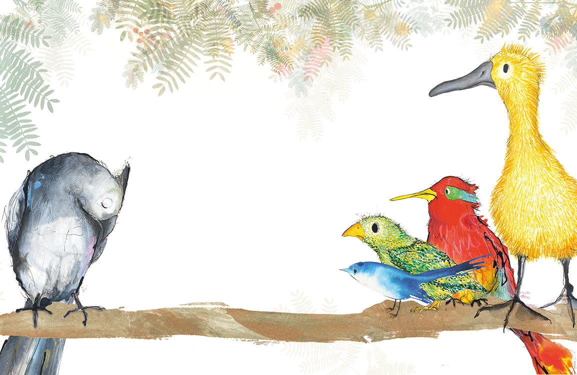 Illustration of birds from the activity sheet