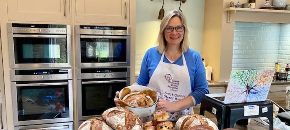 GOSH mum Judith baking in her kitchen