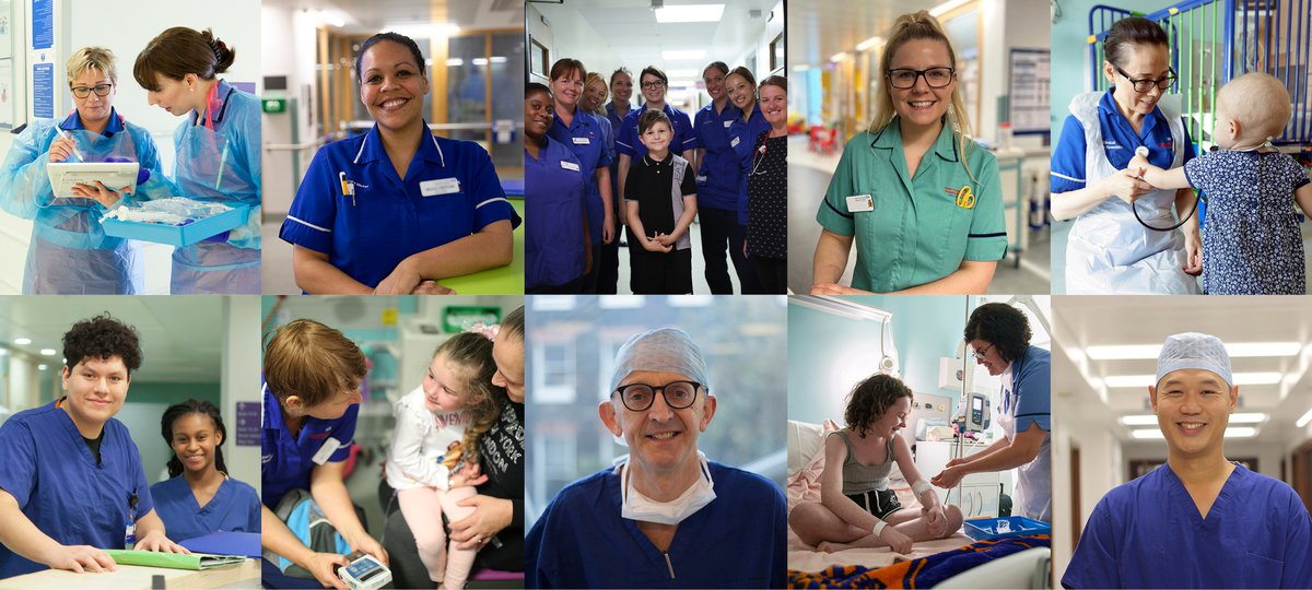 Staff and patients at GOSH
