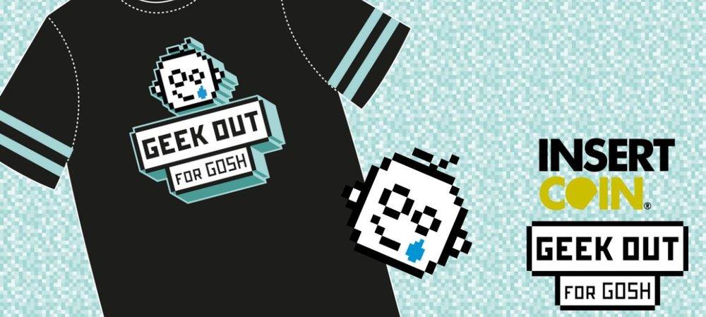 t-shirt & pin badge