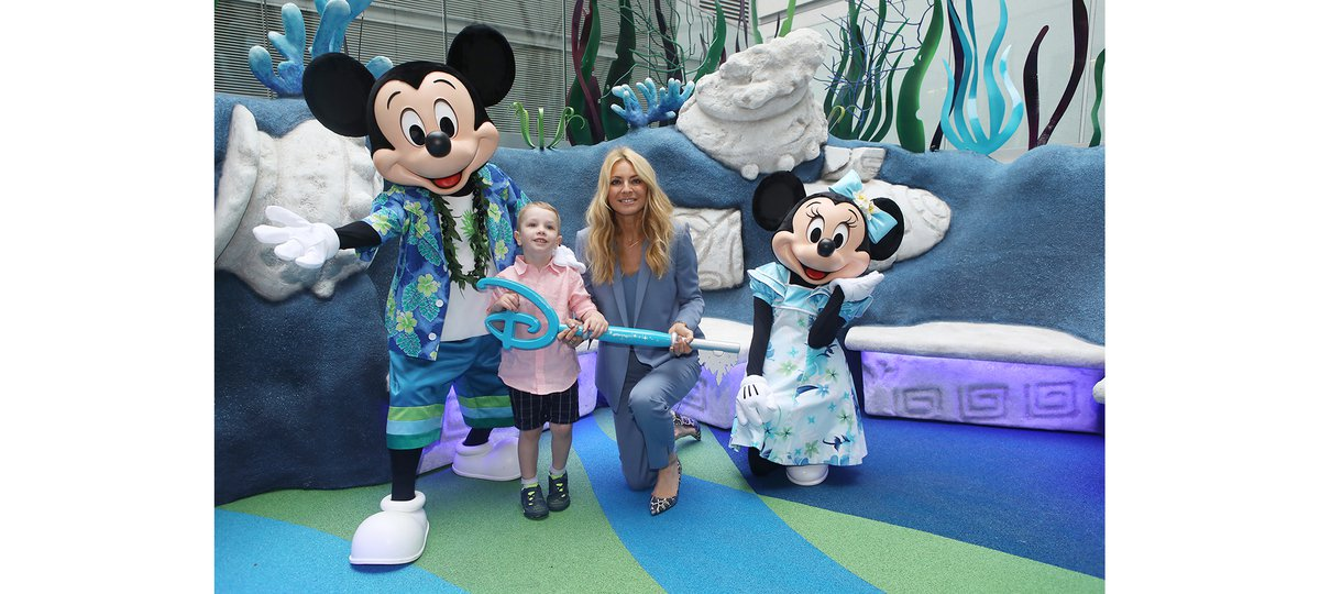 Disney Reef opens with Mickey Mouse, Minnie Mouse, Tess Daly and patients Elliott and Summer